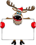 Ren-Weihnachtsleeres Anschlagtafel-Zeichen Stockbilder