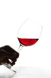 Red wine. A glass of red wine Royalty Free Stock Photos