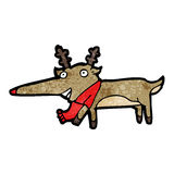 rena cheirada vermelha de Rudolf dos desenhos animados Imagens de Stock Royalty Free
