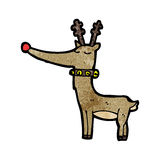 rena cheirada vermelha de Rudolf dos desenhos animados Imagem de Stock
