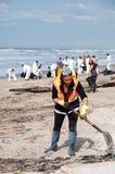 Rena de schone omhooggaande arbeiders van de oliemorserij Stock Foto