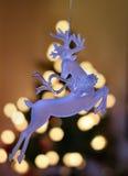 Rena de vidro iluminada Fotos de Stock Royalty Free