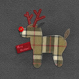 Rena do Natal da sarja de Nimes Foto de Stock