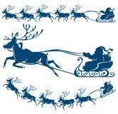 Rena e Papai Noel. Imagens de Stock