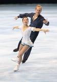 Rena INOUE/John BALDWIN (de V.S.) het vrije schaatsen stock fotografie