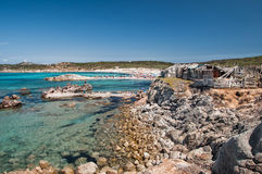 Rena maiore strand op mooi Sardinige royalty-vrije stock foto's