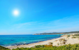Rena majore beach on a clear day Stock Image