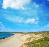 Rena Majore beach on a clear day Stock Photo