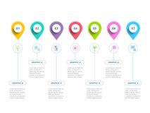 Rena minimalistic för momentprocess för affär 5 wi för infographics för diagram vektor illustrationer