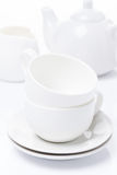 Rena redskap för teatime som isoleras Royaltyfria Bilder