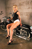 Rena Riffel Strip Club Choppers Magazine Shoot Royalty Free Stock Photography