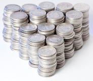 rena silverbuntar för mynt Royaltyfri Bild