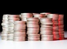 rena silverbuntar för mynt Royaltyfria Bilder