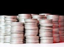 rena silverbuntar för mynt Arkivfoto