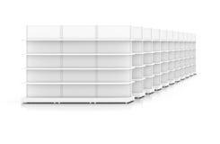 Rena vita kuggehyllor för produktuppvisning Royaltyfri Foto