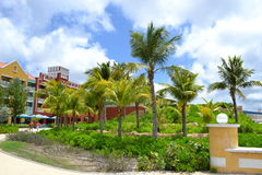 Renacance. Curacao hotel in the caribean royalty free stock photography