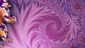 Renacence widescreen. Floral like fractal with spiral pattern of conflicting colours in widescreen format stock illustration