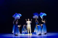 ` Renacimiento-azul de la danza del ` s de onda-Huang Mingliang del mar ningún ` del refugio foto de archivo