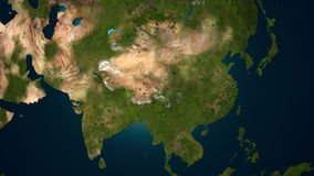 Renacimiento de la vegetación en Asia, animación 4K almacen de video
