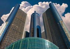 Renacimiento elevado que construye Detroit imagenes de archivo