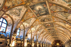 Renaissance antiquarium Stock Images