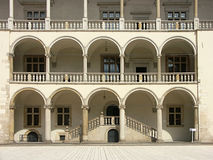 Renaissance arcades. Renaissance courtyard with arcades Stock Images