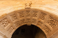 Renaissance arch in the San Esteban convent of Salamanca Stock Image