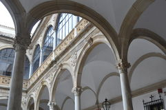 Renaissance arches gallery Royalty Free Stock Photography