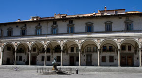 Renaissance arks of Piazza Santissima Annunziata Royalty Free Stock Photo