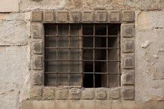 Renaissance barred window in Bergamo, Italy Stock Photos