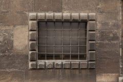 Renaissance barred window in Bergamo, Italy Stock Image
