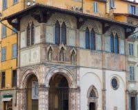 Renaissance Building - Florence. A frescoed renaissance building in Florence, Italy Stock Photos