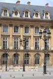 Renaissance building with street lamps in Paris Stock Photo