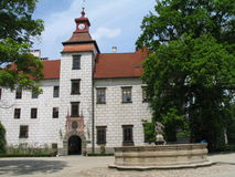 Renaissance building Trebon Castle, South Bohemia, Czech republic Stock Image