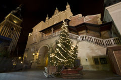 Renaissance buildings at christmastime in Krakow Royalty Free Stock Photos
