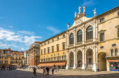 Renaissance buildings at the piazza Signiori in Vicenza Stock Images