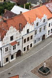Renaissance buildings in Slavonice Royalty Free Stock Image