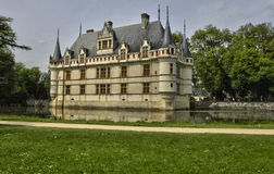 Renaissance castle of Azay le Rideau in Touraine Royalty Free Stock Image