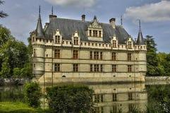 Renaissance castle of Azay le Rideau in Touraine Royalty Free Stock Photography