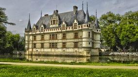 Renaissance castle of Azay le Rideau in Touraine Stock Images