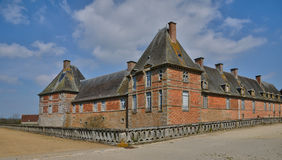 Renaissance castle of Carrouges in Normandie Royalty Free Stock Photo