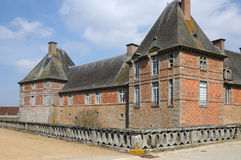 Renaissance castle of Carrouges in Normandie Royalty Free Stock Photography