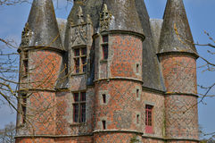 Renaissance castle of Carrouges in Normandie Stock Images