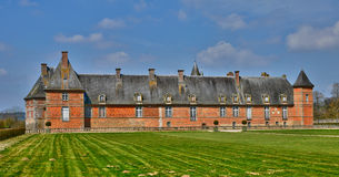 Renaissance castle of Carrouges in Normandie Stock Photo