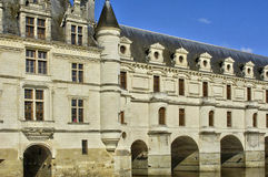 Renaissance castle of Chenonceau in Indre et Loir Stock Photography