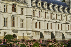 Renaissance castle of Chenonceau in Indre et Loir Royalty Free Stock Photo