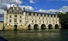 Renaissance castle of Chenonceau in Indre et Loir Royalty Free Stock Photos