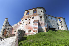Renaissance castle, defense building, ruins, on a sunny day, Lublin Voivodeship, Janowiec ,Poland Stock Image