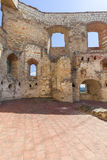 Renaissance castle, defense building, ruins, on a sunny day, Lublin Voivodeship, Janowiec ,Poland Stock Photo