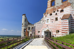 Renaissance castle, defense building, ruins, on a sunny day, Lublin Voivodeship, Janowiec ,Poland Royalty Free Stock Image